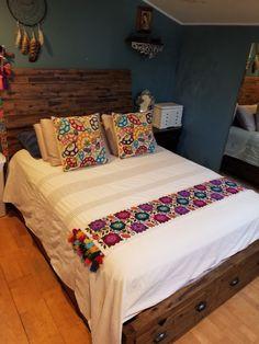 Bordado peruano cama rustica