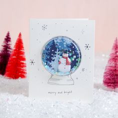 Shaker ornament card - card making tutorial - Christmas cards - DIY cards - make your own cards