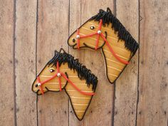Horse Cookies for Kentucky Derby Iced Cookies, Cut Out Cookies, Cute Cookies, Sugar Cookies, Cupcake Cookies, Decorated Brownies, Decorated Cookies, Cookie Time, Fondant