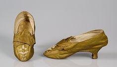 Shoes, 1775-1789, European, silk