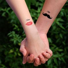 Mr Mrs Couple Temporary Tattoo $4|http://www.inknartshop.com/collections/hearts-love/products/mr-mrs-couple-tattoo?variant=13861063043
