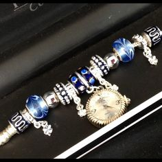 ⚡️Flash Sale⚡️Figaro Couture Beaded Watch Bracelet So pretty! Looks expensive! New in box. Analog Quartz. Blue and silver beads inspired by you know who. Stainless and alloy. Lobster claw clasp. Figaro Couture Accessories Watches