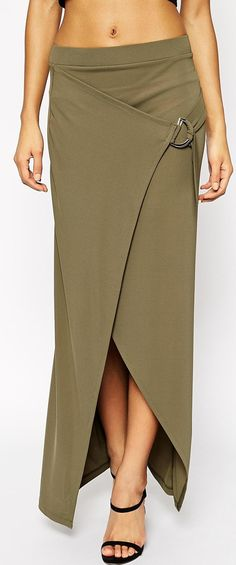 olive wrap skirt- interesting style but not my favorite color.
