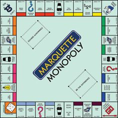 how the heck is Straz cheaper real estate than Carpenter AND O'Donnell? Monopoly Theme, Monopoly Board, Board Game Template, Printable Board Games, School Games, I School, Harry Potter Monopoly, Make Your Own Game, Marquette University