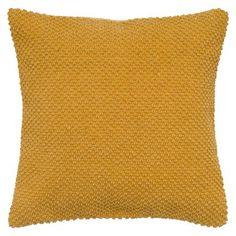 Rizzy Home Handloom Textured Decorative Pillow - Mustard