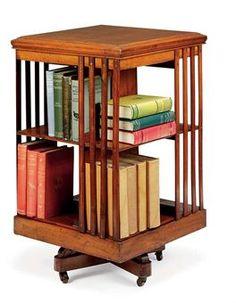 Antique Revolving Bookcase - I've always wanted one of these! Revolving Bookcase, Long Walls, Antique Furniture, Bookshelves, Woodworking Projects, Kids Room, New Homes, Design Inspiration, House Design