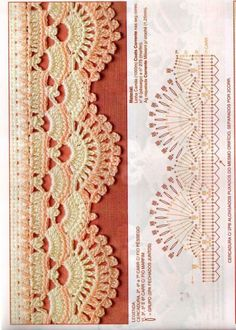 Easiest Crochet Frills Border Ever! Crochet Boarders, Crochet Edging Patterns, Crochet Lace Edging, Crochet Diagram, Crochet Chart, Crochet Designs, Crochet Doilies, Crochet Flowers, Filet Crochet