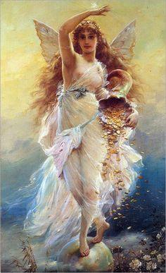 Tema da Pintura: Anjos!