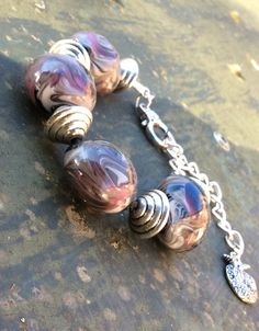 Hand made glass beads bracelet