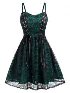 Plus Size Halloween Lace Skulls Grommet A Line Dress , Source by dresses plus size Plus Size Vintage Dresses, Plus Size Dresses, Short Dresses, Big Size Dress, Sexy Dresses, Formal Dresses, Lace Skull, Plus Size Halloween, Adult Halloween