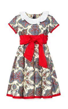 Shop Red Girls Paisley Party Dress by Oscar de la Renta for Preorder on Moda Operandi. For Charmot: Dress to upstage Santa.