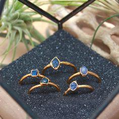 Sapphire Ring // September Birthstone // Raw Stone Gold Ring // Gold Ring // Stacking Ring // Raw Gemstone Ring // Raw Crystal
