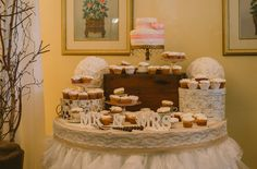 cake table Cake Table, Garden Wedding, Desserts, Diy, Food, Tailgate Desserts, Do It Yourself, Meal, Bricolage