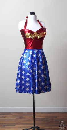 I MUST HAVE! retro Wonder Woman dress custom  smarmyclothes  by smarmyclothes, $155.00