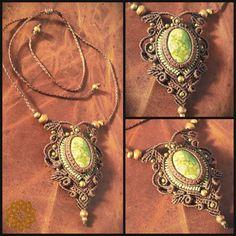 Etsy の Macrame necklace with kambaba Jasper by EarthBoundMacrame