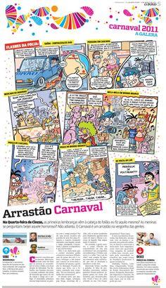 Quadrinho sobre o carnaval