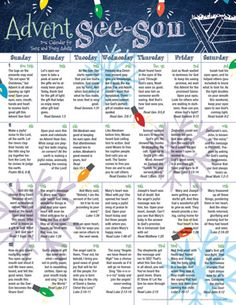 2016 Teen Advent Calendar This Advent calendar provides brief, spiritual reflections for each day. Advent is more than a season; it's a See-SON! This eye-opening calendar brings the history and meaning of this special time of preparation to light. The teen calendar matches ...