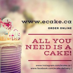 Now Order Online! www.ecake.ca |  #cakes #cake #cakedecorating #cupcakes #birthdaycake #food #cakesofinstagram #chocolate #baking #dessert… Instagram Feed, Cake Decorating, Birthday Cake, Cupcakes, Chocolate, Baking, Breakfast, Desserts, Food