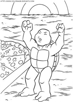 Paper Coloring Pages: Ninja Turtle Leonardo Coloring Pages