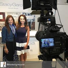 """Trend Forecaster Stacy Garcia, @stacygarciainc who has built a global lifestyle brand on her expertise and training in Surface Pattern Design, sees Tropical patterns as the next big thing in home interiors and textiles as well as """"sophisticated neutrals"""" such as lavender-gray. Stay tuned for more on Stacy's expert insights on #DesignTrends and her latest launches @surtexshow in new episodes of #TheDesignTourist #DesignTVShow #design #ConsumerTrends #designinspiration #surtex #textiles…"""