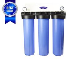 Crystal Quest Whole House Compact Water Filter Triple Smart Series Ion Exchange Resin, Inline Water Filter, Whole House Water Filter, Reverse Osmosis Water, Water Filtration System, Romantic Cottage, Water Well, Cottage Design, Drinking Water