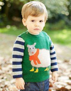 mode-enfants-garçons-printemps-chandail-vert-brebis