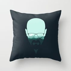 Heisenberg Throw Pillow by Filiskun | Society6 #art  #design #awesome #print  #poster  #color  #cool  #gift  #gift #ideas  #hipster  #funny  #Illustration  #threadless  #drawing  #girls  #beautiful #humor