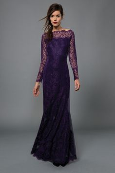 purple lace gown