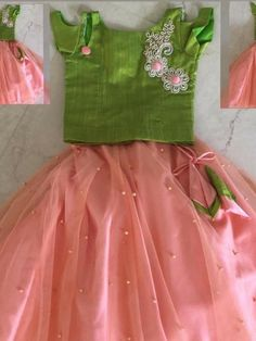 Best 12 The colour combination – SkillOfKing. Baby Girl Party Dresses, Little Girl Dresses, Girls Dresses, Girls Frock Design, Baby Dress Design, Kids Lehanga Design, Kids Dress Wear, Kids Gown, Baby Frocks Designs
