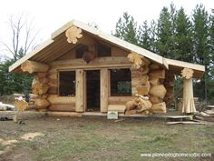 Ultimate Deer Camp - Awesome log ends/joins