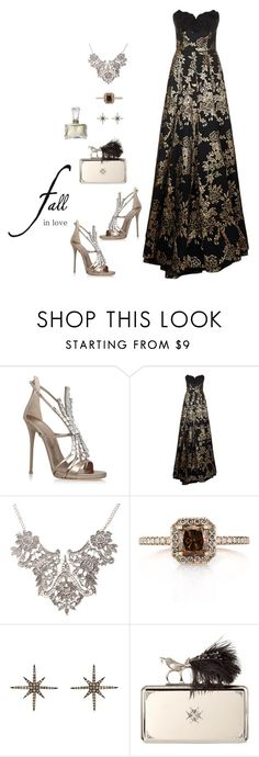 """""""Fall in love"""" by picassogirl ❤ liked on Polyvore featuring Giuseppe Zanotti, Andrew Gn, Mark Broumand, Christina Debs, Alexander McQueen and Norell"""