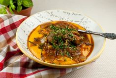 Braised Lamb Shanks with Sweet Potato Polenta~making this on the first snowy Monday of the year I promise!! lol