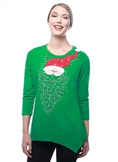 berek santas snowy beard christmas top christmas tree sweater reindeer sweater holiday sweater