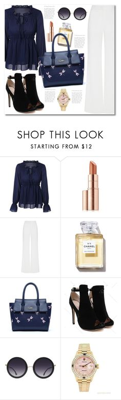 """""""#81"""" by aida-nurkovic ❤ liked on Polyvore featuring Estée Lauder, Alexis Mabille, Alice + Olivia and Rolex"""