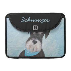 #Schnauzer (Miniature) MacBook Pro Sleeve - #miniature #schnauzer #puppy #schnauzers #dog #dogs #pet #pets #cute #miniatureschnauzer