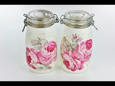 Decoupage Bottles with Easy Crackle - Fast & Easy Tutorial - DIY - YouTube