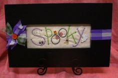"""""""Spooky"""" - A Stitchery Pattern"""