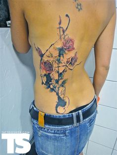 TattooSnob: The High End of Low-Brow Theres Somethin' about flowers & messy ink splatter design tattoos that I just really love!?