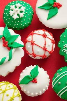 cupcake de natal Decoração natalina