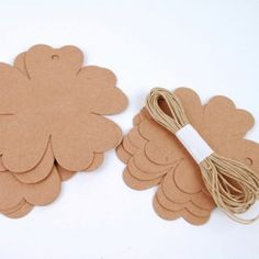 Blomster i natur karton - brun ass 2 str. Cookie Cutters, Opal, Paper Board, Creative, Opals