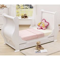 Tutti Bambini Louis Cot Bed + Drawer + Foam Mattresss (White)
