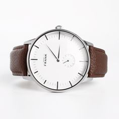 Aberdeen White Leather Watch - Get it at www.grandfrank.com