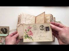 Vintage journal for a private swap - YouTube