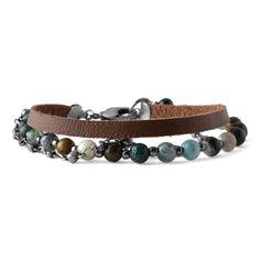 Jasper Mountain Bracelet | Fusion Beads Inspiration Gallery Fusion Beads, Crimp Beads, Crimping, Jewelry Crafts, Jewelry Ideas, Bracelet Designs, Gemstone Beads, Jasper, Antique Silver
