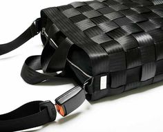 The Recycled Seatbelt Handbag by Paolo Ferrari, who's mission is to aesthetically utilise objects that are destined to be wasted http://www.959.it/site.php?page=6=history