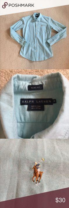 Ralph Lauren Slim Fit Button Down Ralph Lauren Slim Fit Button Down. Beautiful color and excellent condition!! Ralph Lauren Tops Button Down Shirts