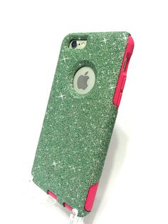 iPhone 6 Plus Custom Glitter Otterbox Commuter от NaughtyWoman