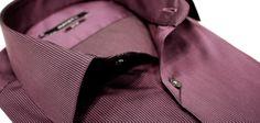 Εσεις τι θα φορέσετε την παραμονή της Πρωτοχρονιάς;   πουκάμισο midnight purple με ρίγα στην ύφανση, Manetti