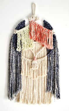Macrame hand dyed wall hanging by RanranDesign on Etsy