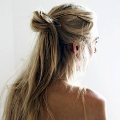 19 Ways To Wear A Half Up Top Knot #hair #bun #hairstyle